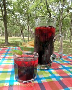 Authentic Mexican recipe for agua de jamaica, an herbal hibiscus tea that substitutes for traditional iced tea.
