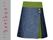 New Snap Shots Pleated skirt denim skirt pleated skirt olive-dark blue Popular I really like Jeans ! And even more I like to sew my very own Jeans. Next Jeans Sew Along I am pla Pleated Skirt Outfit, Skirt Outfits, Denim Skirt, Skirt Patterns Sewing, Sewing Patterns Free, Fashion Week, Diy Fashion, Next Jeans, African Traditional Dresses