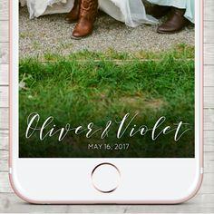 Snapchat Wedding Geofilter Snapchat Geofilter by LMNDesignStudio