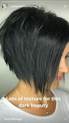 35 Short Bobs Hair Cuts for Summer 2019 Hair Hair Cut Short Bob Hairstyles, Pretty Hairstyles, Edgy Bob Haircuts, Graduated Bob Haircuts, Stacked Haircuts, Short Graduated Bob, Short Sassy Haircuts, Haircut Short, Hairstyles 2016
