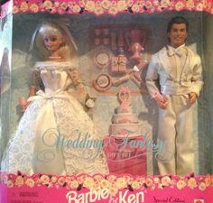 Barbie and Ken Wedding Fantasy Special Edition Gift Set 1996