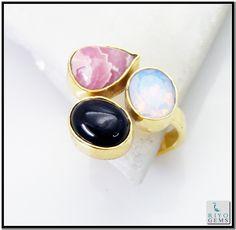 Multi Red Onyx Gem 18k Gold Plated Purity Ring Sz 7 Gprmul7-5273 http://www.riyogems.com