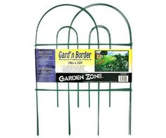 "Fence Fold 24""X10""Green (10 Pack) by GardenZone. $153.70. Please refer to the title for the exact description of the item.. 100% Satisfaction Guaranteed.. High quality items at low prices to our valued customers.. All of the products showcased throughout are 100% Original Brand Names.. We proudly offer free shipping. We can only ship to the continental United States.. Fence Fold 24""X10""Green - Vinyl-coated decorative garden border. Size: 24"" H x 10' L. Color: Green.. Save 57% Off!"