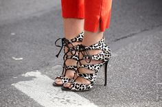 Leopard stilettos.    ... Because there is no such thing as enough shoes ...