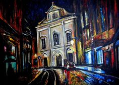 Buy Night Rain in Lisbon, Acrylic painting by Alex Solodov on Artfinder. Discover thousands of other original paintings, prints, sculptures and photography from independent artists.