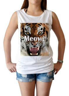 angry evil Tiger meow  women's singlet Tank Top by maibork555, $15.99