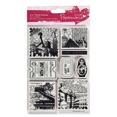 Gourmet Rubber Stamps No Road is Too Long Cling Stamps 2.75 x 4.75
