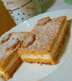 Czech Desserts, Sweet Desserts, No Bake Desserts, Sweet Recipes, Dessert Recipes, Kolaci I Torte, Good Food, Yummy Food, Czech Recipes