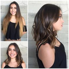 From long and damages to short and sassy Hair by Jacqui of Butterfly Loft Salon makeover hair transformation beauty makeover hotonbeauty.com