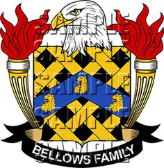 Bellows Family Crest apparel, Bellows Coat of Arms gifts