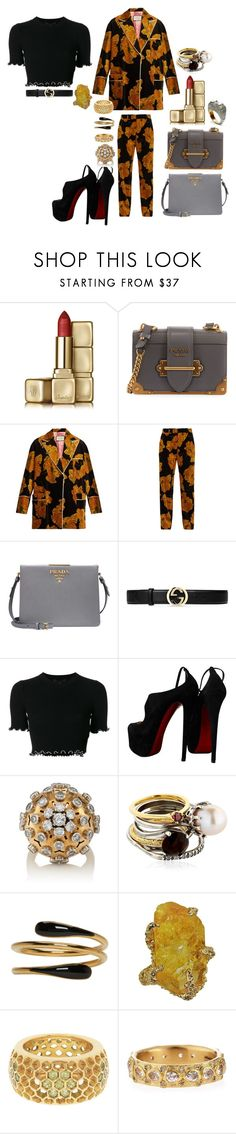 """""""I love you wildly, insanely, infinitely."""" by mymind-is-a-warrior ❤ liked on Polyvore featuring Guerlain, Prada, Gucci, Alexander Wang, Christian Louboutin, Iosselliani, Isabel Marant, Love Is, Armenta and Nush"""