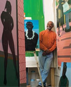 Kerry James Marshall uses painting, sculptural installations, collage, video, &photography to comment on the history of black identity both in the United States and in Western art. He is well known for paintings that focus on black subjects historically excluded from the artistic canon; has explored issues of race & history through imagery ranging from abstraction to comics.