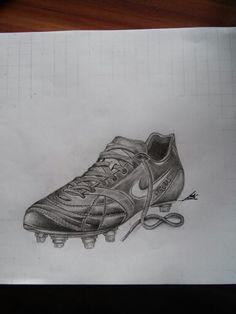 Soccer shoe Tattoo design