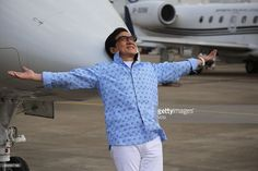 Actor Jackie Chan shows at the 2015 Asian Business Aviation Conference & Exhibition (ABACE2015) the day before its open on April 13, 2015 in Shanghai, China. The ABACE 2015 - 2015 Asian Business Aviation Conference & Exhibition organized by National Business Aviation Association (NBAA) and Asian Business Aviation Association (AsBAA) will be held at Shanghai Hawker Pacific Business Aviation Service Centre on April 14-16.