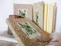 tavola botanica Cannabis su carta di canapa notebook 11x15cm