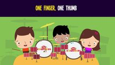 One Finger One Thumb Keep Moving is an action songs that helps teach body parts.  #preschool #kidsmusic #bodyparts