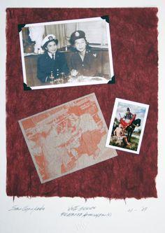 Sam Coronado,  Beatrice Kissinger,  Mixed Media, #LatinoArt #MexicanAmericanArt #serigraphy #printmaking