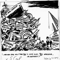 suez crisis | Group page (full view): The Suez Crisis (beta) - The British Cartoon ... The United Kingdom was forced to exit the world stage as a superpower. University Of Kent, Sir Anthony, Superpower, Political Cartoons, Cold War, The Twenties, United Kingdom, Stage, British