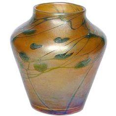 ❤ - Loetz | Art Nouveau iridescent glass vase.