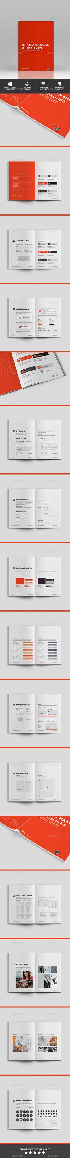 Brand Manual Template InDesign INDD - 48 Pages, A4 & US Letter size ...