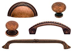 Old Copper Cabinet Hardware Collection