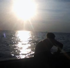 Amazing Thai sunset out at sea...