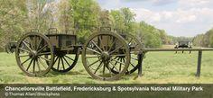 Fredericksburg National Military Park in Virginia marks four Civil War Battlefields: Fredericksburg, Chancellorsville, Wilderness, and Spotsylvania.