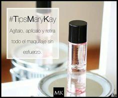 La regla de todo maquillaje, quitarlo suavemente sin lastimar tu piel www.marykay.es/casti