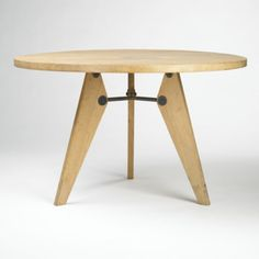Dining table, Manufactured by Les Ateliers Jean Prouvé, France, 1946