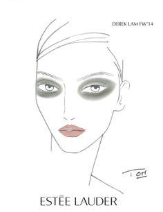 Derek Lam Fall_Winter Fashion Show 2014_Face Charthttp://getloworld.wordpress.com/2014/02/21/estee-lauder-for-derek-lam-fallwinter-2014-fashion-show/