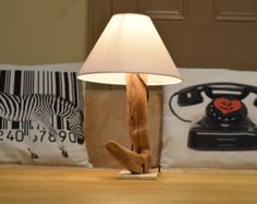 Driftwood lamp with handmade studs Loft II. Home by Glighthouse