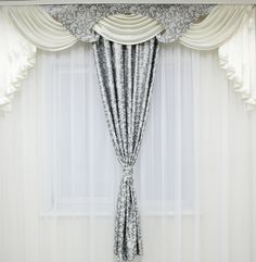Grey #Swags and #Tails #Curtain