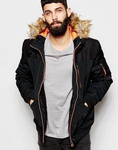 Love this?  ASOS Parka Jacket With Contrast Yoke In Black - Black - http://www.fashionshop.net.au/shop/asos/asos-parka-jacket-with-contrast-yoke-in-black-black/ #ASOS, #Black, #ClothingAccessories, #Contrast, #In, #Jacket, #Male, #Mens, #MensJackets, #Parka, #With, #Yoke #fashion #fashionshop