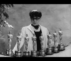 Edith Head, here with her 8 Academy Awards for Costume Design. (She had 35 nominations during her career!) Oct. 28, 1897.