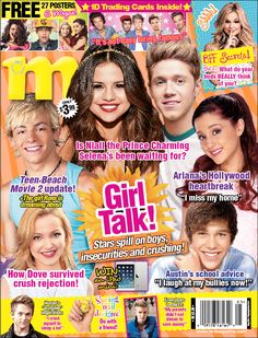 Have you seen M's May 2014 cover yet? The issue is on stands TODAY! Selena Gomez Poster, Star Magazine, Ross Lynch, Room Posters, Pink Wallpaper, Prince Charming, Scores, Trading Cards, Celebrity News