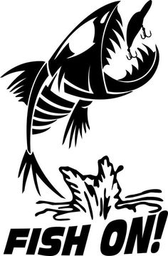 fish bone fish on fishing decal - North 49 Decals Silhouette Art, Silhouette Projects, Fish Drawings, Art Drawings, Fish Mask, Fish Skeleton, Bone Crafts, Scroll Saw Patterns Free, Fish Logo