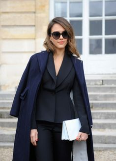 Jessica Alba at the Christian Dior, f/w 2014-2015 Paris Fashion Show.