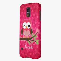 Love it! This Hot Pink Cute Owl Girly Cases For Galaxy S5 is completely customizable and ready to be personalized or purchased as is. It's a perfect gift for you or your friends.