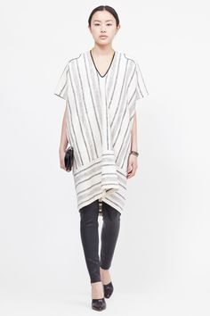 Zero + Maria Cornejo Tasi Dress (Chalk/Black)