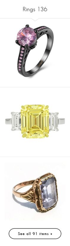 """Rings 136"" by singlemom ❤ liked on Polyvore featuring jewelry, rings, rosegal, geometric jewelry, vintage rings, vintage jewelry, vintage jewellery, rhinestone jewelry, diamond jewelry and yellow ring"