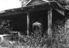 An abandoned filling station in Tunica County, Mississippi advertises the areas neglect.