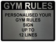 Year Metal Aluminium Plaque Sign Door Fitness Est Custom Personalised Gym Name