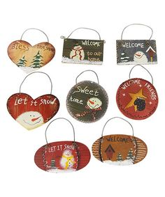 Love this Mini Christmas Ornament Set on #zulily! #zulilyfinds