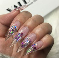 Nails. Clear Nails. Stiletto Nails. Acrylics Nails