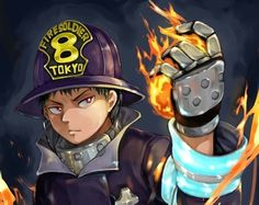 Enen No Shouboutai  Fire force #fireforce #fireforceanime @saharaujom #enennoshouboutai #fireforce2019 #animes #otaku Shinra Kusakabe, Awesome Anime, Jojo's Bizarre Adventure, Firefighter, Background Images, Supernatural, Cool Pictures, Anime Art, Hero
