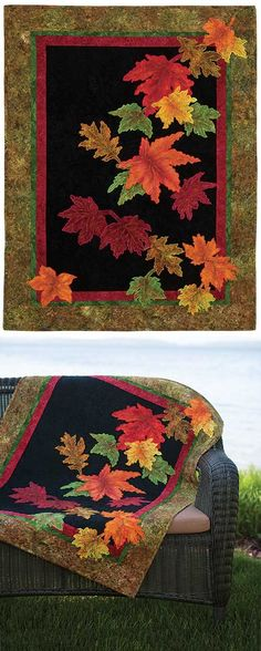 Autumn Splendor Quilt Kit - Keepsake Quilting 36 x 48