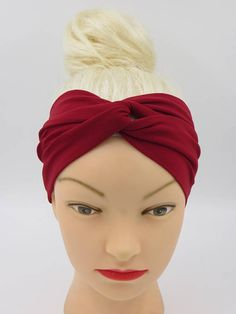 Your place to buy and sell all things handmade Red Headband, Twist Headband, Turban Headbands, Hippie Headbands, Floral Headbands, Headbands For Women, Floral Fabric, Floral Prints, Bohemian Hair Accessories