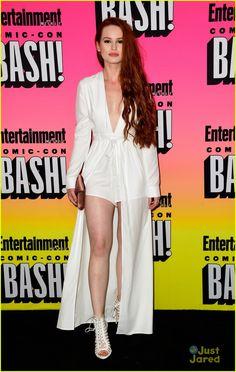 Madelaine Petsch & Cole Sprouse Bring 'Riverdale' To Comic-Con   cole sprouse kj apa madelaine petsch riverdale cast comic con 04 -…