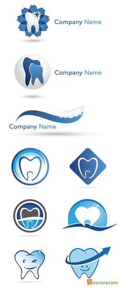 Dentist Logos - Logo Vector Set #13                                                                                                                                                      Más