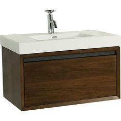 Fairmont Designs 1530-WV2118 Wall Mount Single Bowl Bathroom Vanity on
